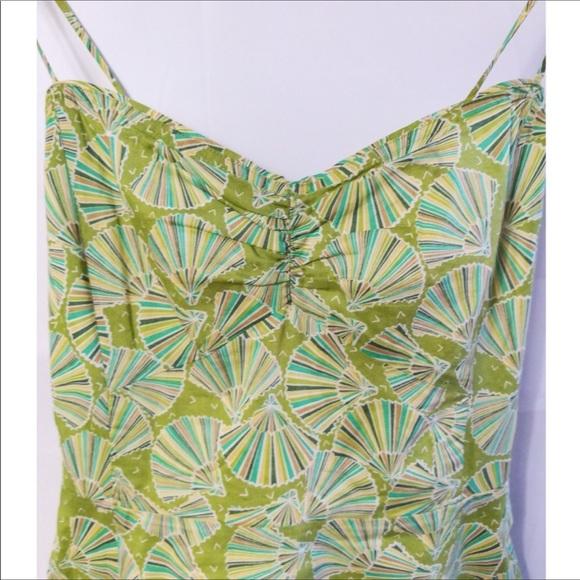 J. Crew Dresses & Skirts - J Crew Green Sea Shell Spaghetti Strap Dress